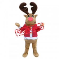 Cheap Lovely Deer Mascot Costume
