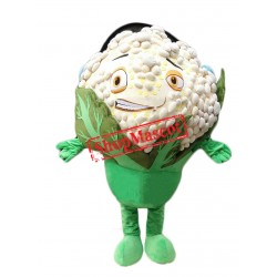 Happy Lightweight Cauliflower Mascot Costume