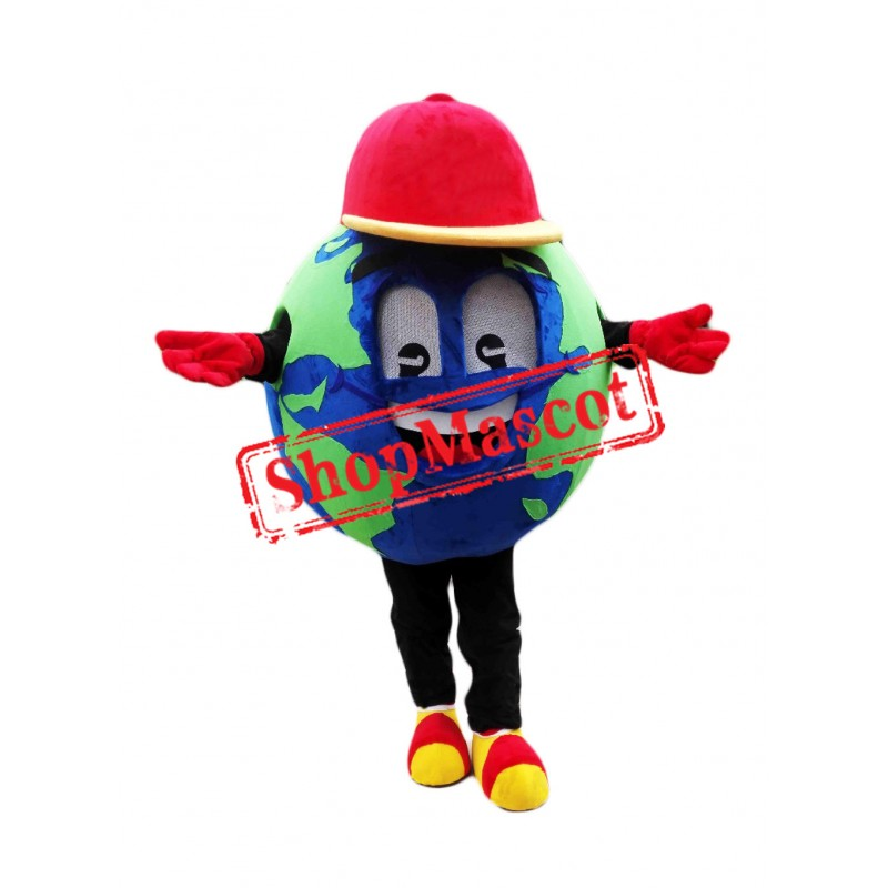 Globe Earth Mascot Costume