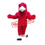 Red Lightweight Eagle Mascot Costume