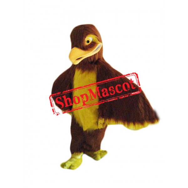 Brown Hawk Falcon Mascot Costume