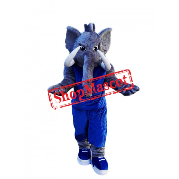 College Power Elephant Mascot Costume