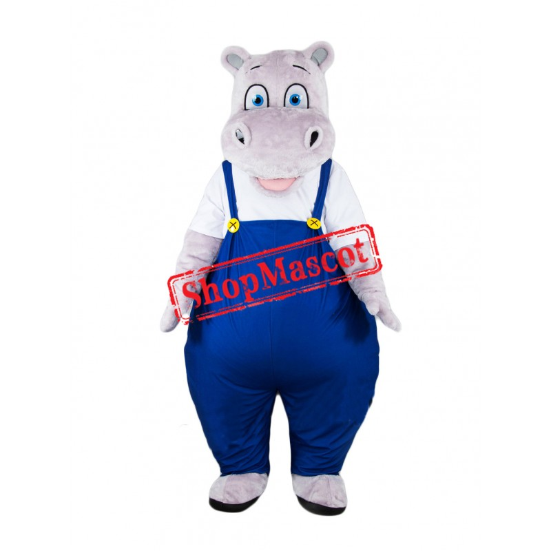 Super Cute Lightweight Hippo Mascot Costume