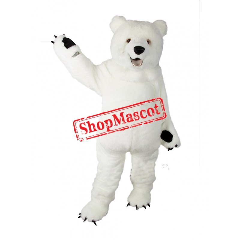 Super Cute Lightweight Polar Bear Mascot Costume