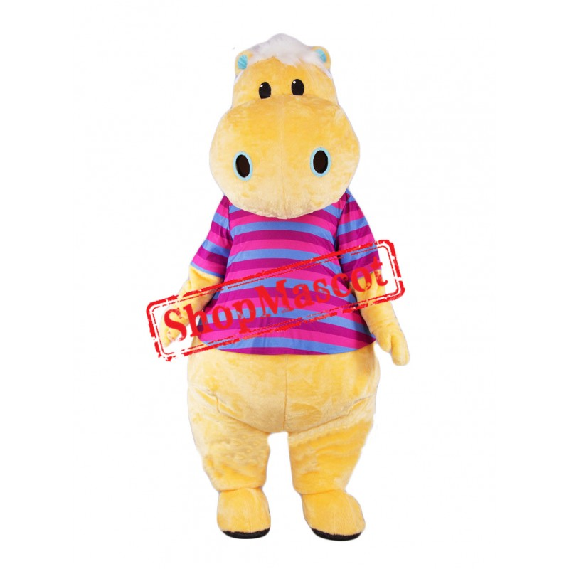 High Quality Yellow Hippo Mascot Costume