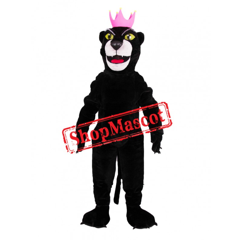 Friendly Black Panther Mascot Costume