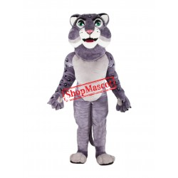 High Quality Grey Leopard Mascot Costume