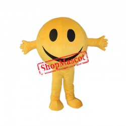 Happy Emoji Smiling Face Mascot Costume