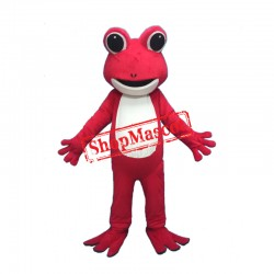 Red Frog Character Mascot Costume