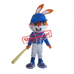 Baseball Rabbit Mascot Costume