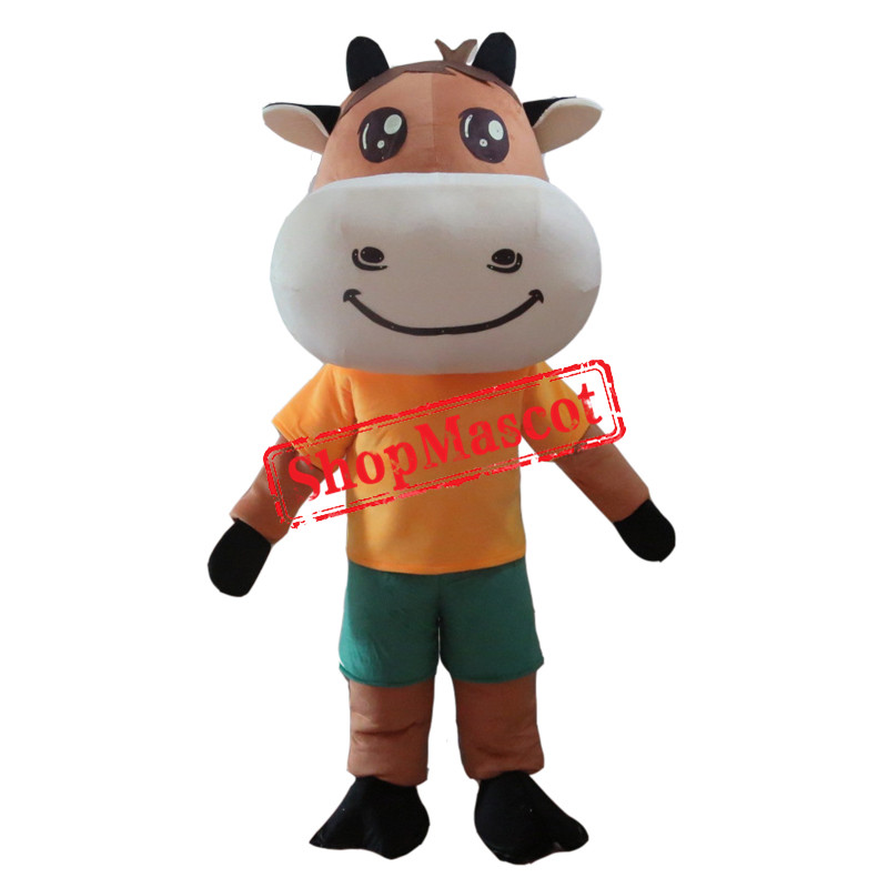 Cute Animal Cow Mascot Costume