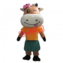 Beautiful Animal Cow Mascot Costume