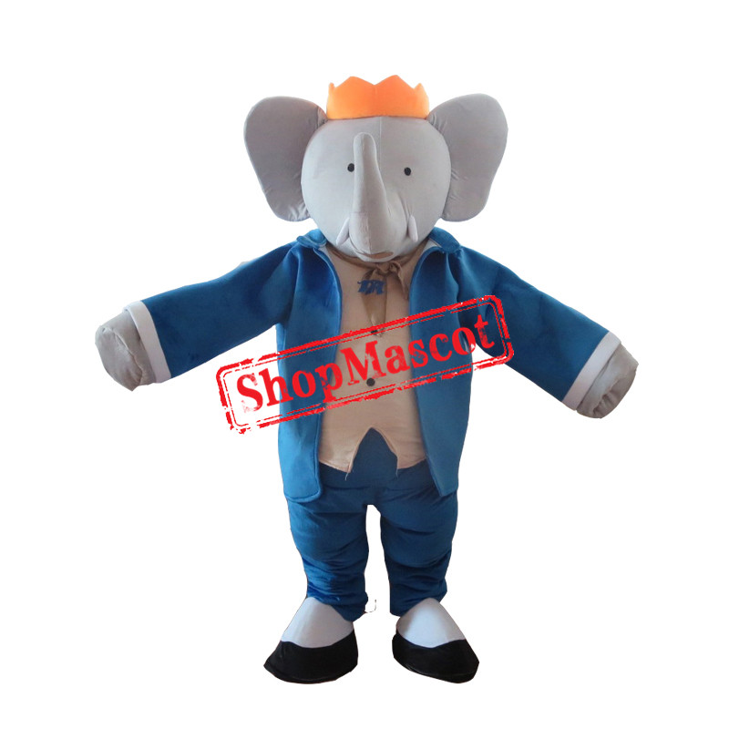 Mr. Blue Elephant Mascot Costume