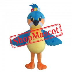 Lovely Blue Bird Mascot Costume
