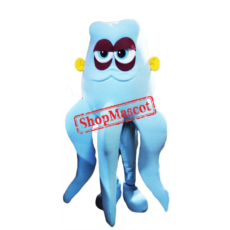 Blue Lightweight Octopus Mascot Costume