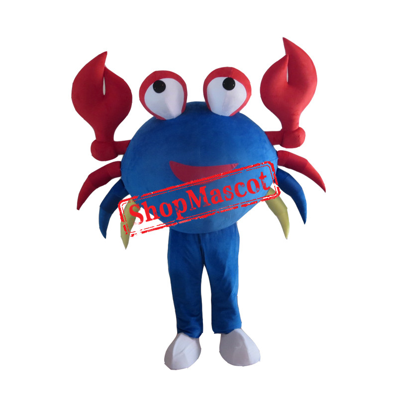 Blue Big Crab Mascot Costume