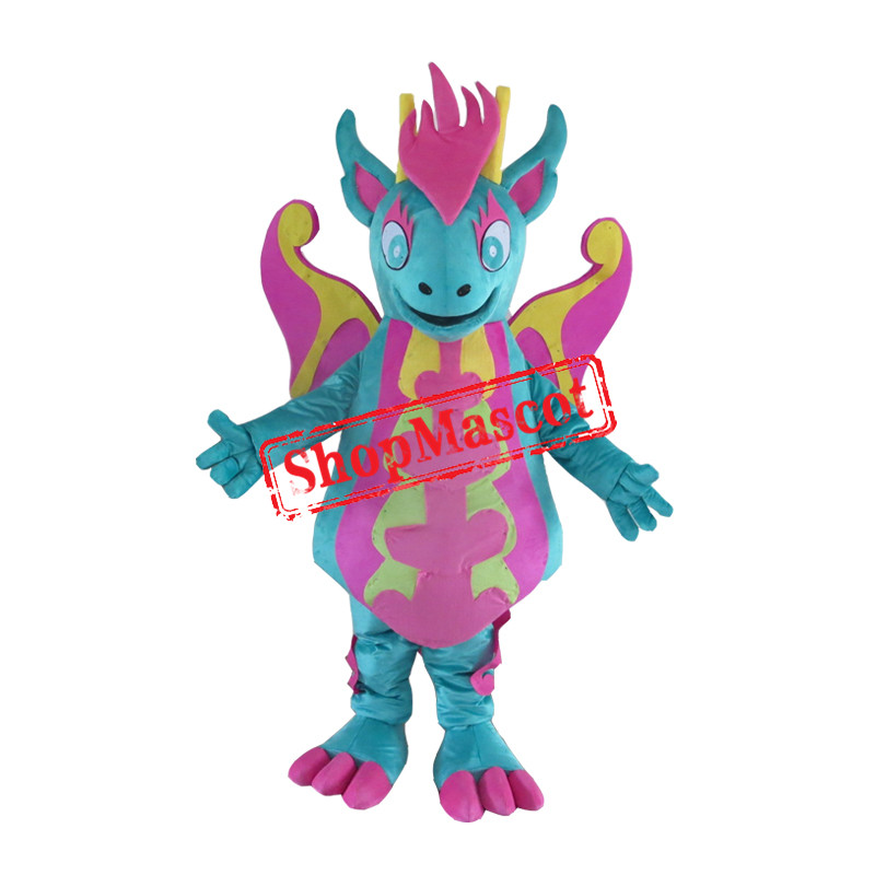 Lovely Colorful Dragon Mascot Costume
