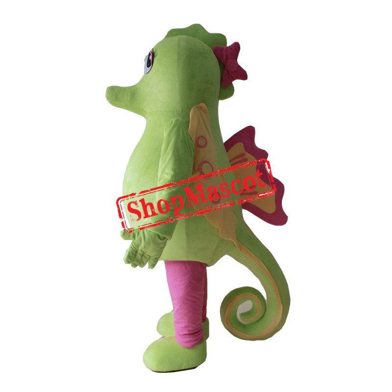Cheap Green Sea Horse Mascot Costume