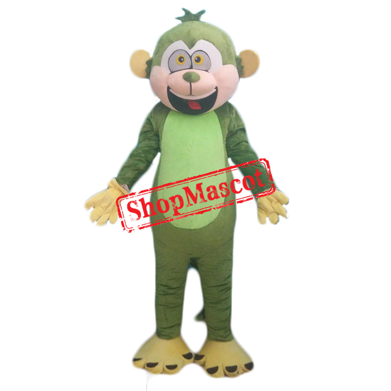 Green Monkey Mascot Costume