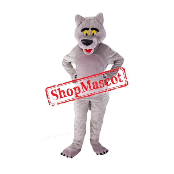 Top Quality Grey Wolf Mascot Costume