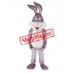 Super Cute Grey Rabbit Mascot Costume