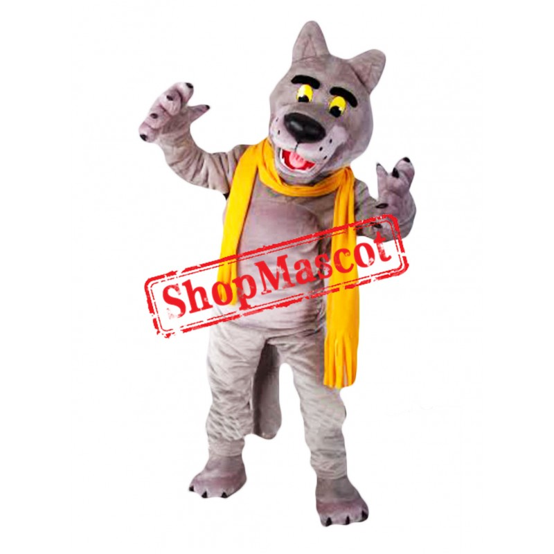 Top Quality Wolf Mascot Costume Free Shipping