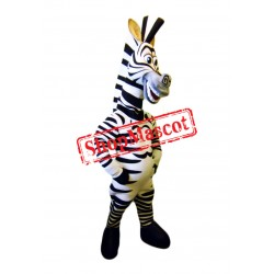 Happy Zebra Mascot Costume