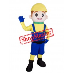 Boy Builder Mascot Costume