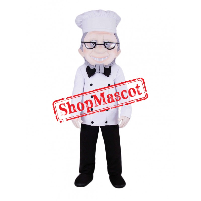 Senior Chef Mascot Costume