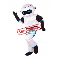 Cute White Robot Mascot Costume