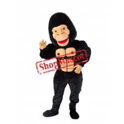 Top Quality Lightweight Black Gorilla Mascot Costume