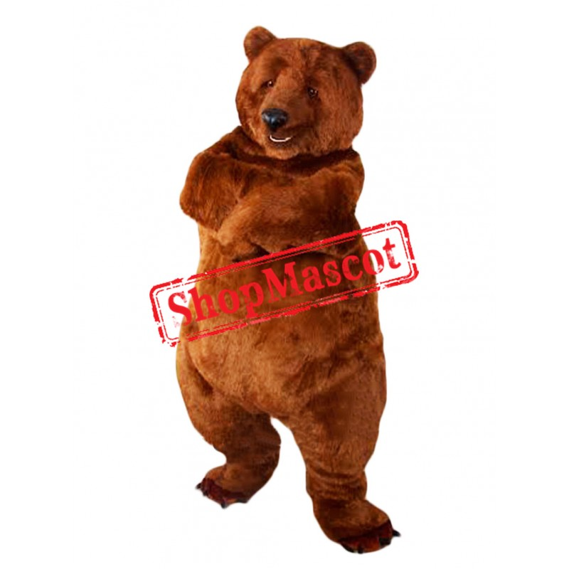 Top Quality Lightweight Brown Bear Mascot Costume