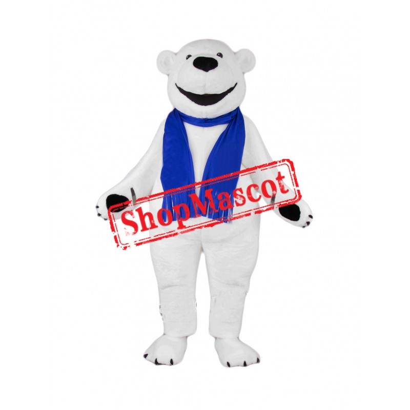 Happy Lightweight Polar Bear Mascot Costume Free Shipping