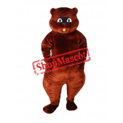 Top Quality Brown Beaver Mascot Costume