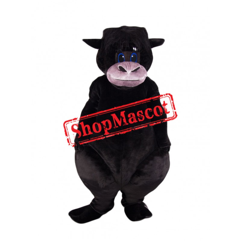 Super Cute Black Bull Mascot Costume
