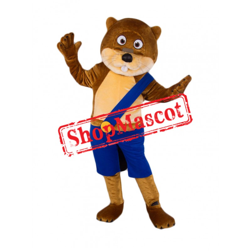 Super Cute Beaver Mascot Costume Free Shipping