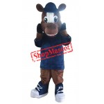 Sport Lightweight Brown Horse Mascot Costume