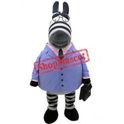 Super Cute Zebra Mascot Costume