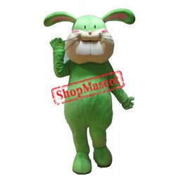Green Lightweight Bunny Mascot Costume
