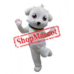 Super Cute Lightweight White Dog Mascot Costume