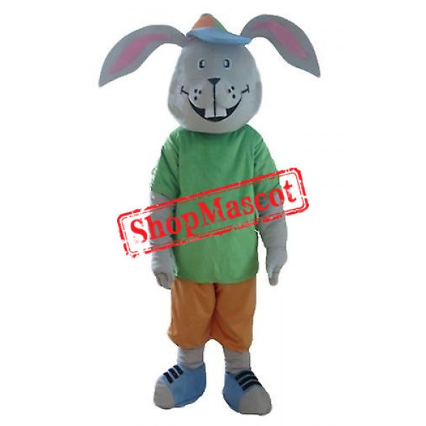 Smiling Rabbit Mascot Costume