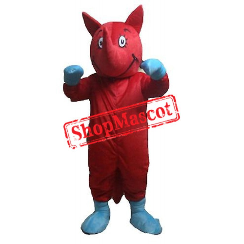 Red Rhino Mascot Costume
