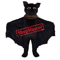 Black Bat Mascot Costume