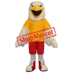 White Falcon Mascot Costume