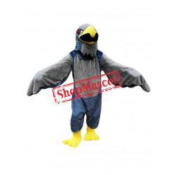 Grey Falcon Mascot Costume
