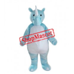Blue Lightweight Rhinoceros Mascot Costume