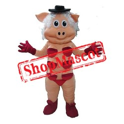High Quality Dancing Pig Mascot Costume