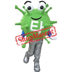 Green Virus Mascot Costume