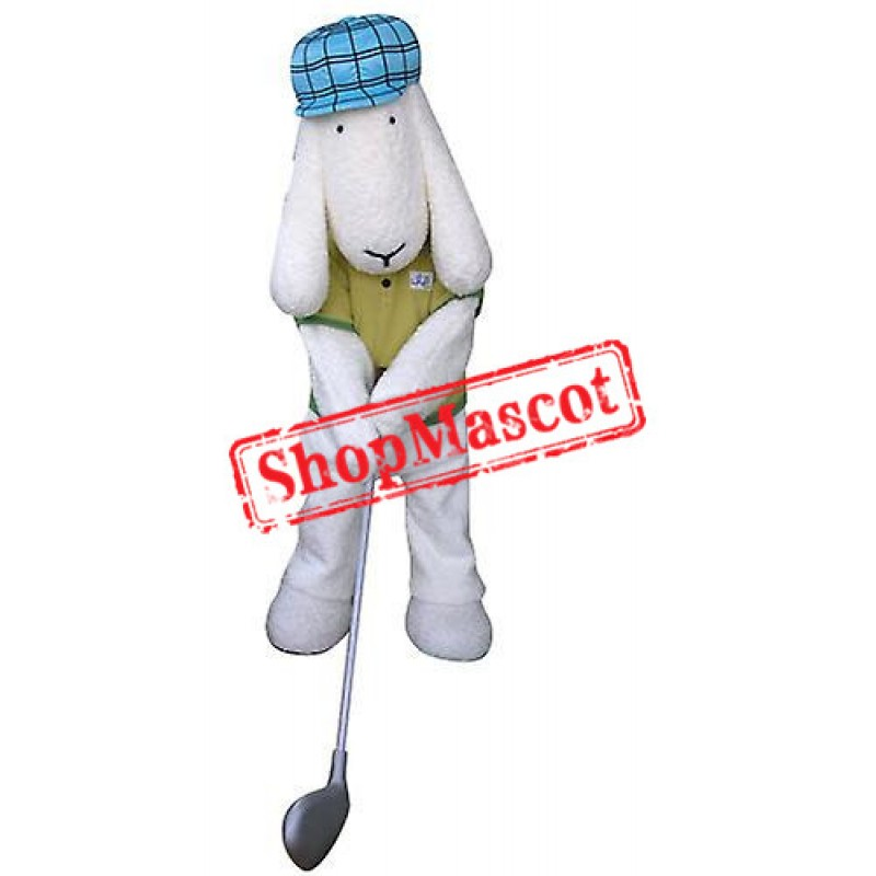 Golfer Dog Mascot Costume