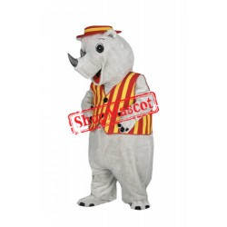 Top Quality Lightweight Adult Rhino Mascot Costume
